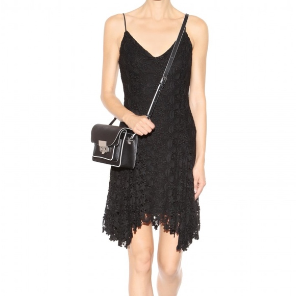 Ralph Lauren Polo CROCHET ALINE LACE BLK DRESS